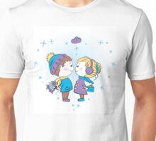 loving couple holding gifts Unisex T-Shirt