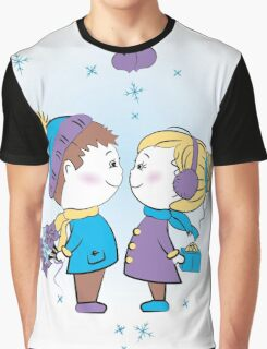 loving couple holding gifts Graphic T-Shirt