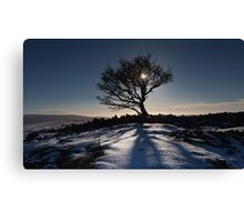 First snow in Brecon Canvas Print