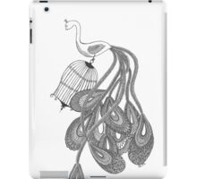 Black and white peacock iPad Case/Skin