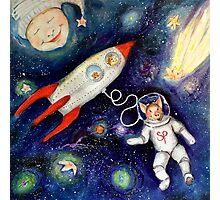 Ground Control To Super Pig  Photographic Print