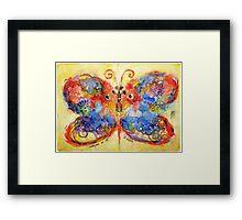 Astrazioni su ali di farfalla Framed Print