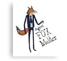 Agent Fox Mulder Metal Print