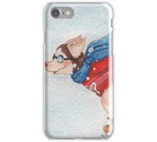 Skating with Super Pig  iPhone Case/Skin