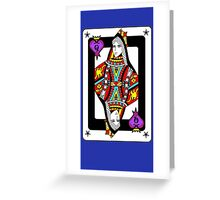 """The Queen Of Hearts"" Greeting Card"