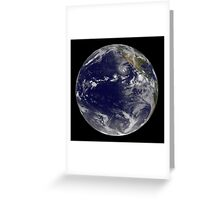 Full Earth showing various tropical storms. Greeting Card