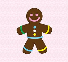 Cute Merry Christmas Gingerbread Man by igorsin