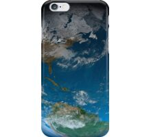 Full Earth featuring North and South America. iPhone Case/Skin