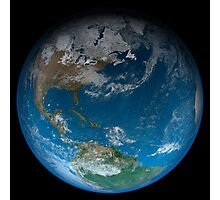 Full Earth featuring North and South America. Photographic Print