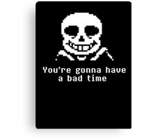 Undetale Bad Time Canvas Print