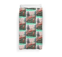 Red Loco Brick Poster  Duvet Cover