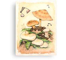 Mushroom Music Canvas Print