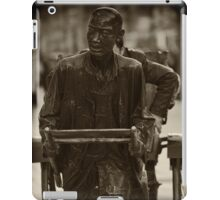 Man Pulling Cart Sculpture - Beijing iPad Case/Skin