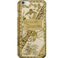 The Criterion Theatre 1890s iPhone Case/Skin