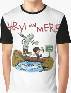 Daryl and Merle Dixon Calvin and Hobbes mash up Graphic T-Shirt