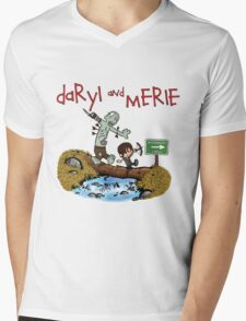 Daryl and Merle Dixon Calvin and Hobbes mash up Mens V-Neck T-Shirt