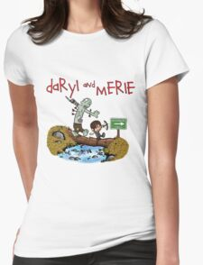 Daryl and Merle Dixon Calvin and Hobbes mash up Womens Fitted T-Shirt