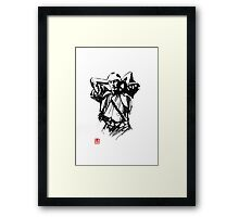 preparing samurai Framed Print
