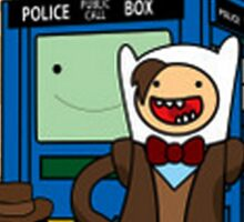 Dr Who Adventure Time Sticker