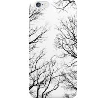 Black and white Winter trees iPhone Case/Skin