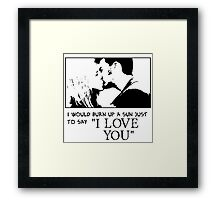 Nerd Valentines: The Doctor loves you! Framed Print