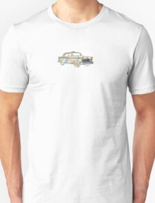 New York city old school checkered cab with subway map T-Shirt