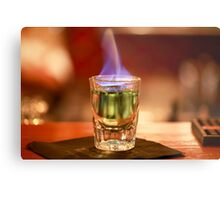 Flaming alcohol  Metal Print