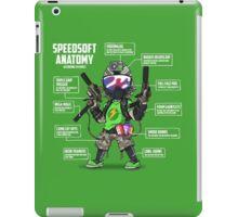 SPEEDSOFT ANATOMY (White writing) iPad Case/Skin
