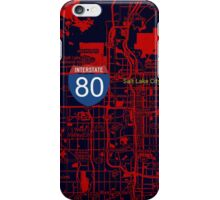 Salt Lake City orange map iPhone Case/Skin