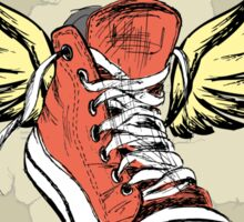Vintage Sneakers with wings Sticker