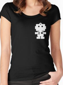 Robot - steel & white Women's Fitted Scoop T-Shirt