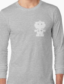 Robot - steel & white Long Sleeve T-Shirt