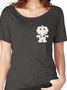 Robot - steel & white Women's Relaxed Fit T-Shirt