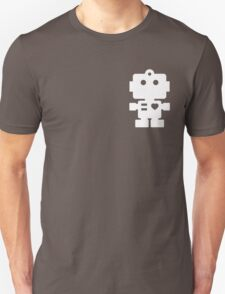 Robot - steel & white Unisex T-Shirt