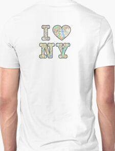 I love NY with subway map  T-Shirt