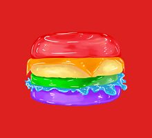 (RED) Rainbow Burger  Women's Fitted Scoop T-Shirt