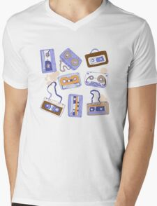 Audio cassette Mens V-Neck T-Shirt