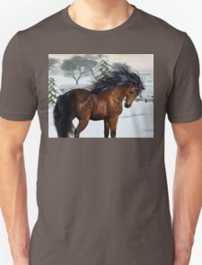 Winters Day .. a stallion in the snow Unisex T-Shirt