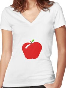 Apple a day Women's Fitted V-Neck T-Shirt