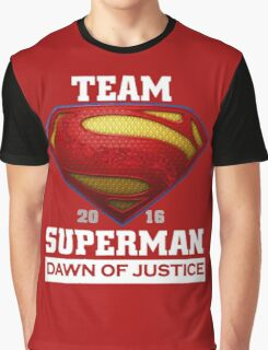 Team Dawn Of Justice Red Graphic T-Shirt