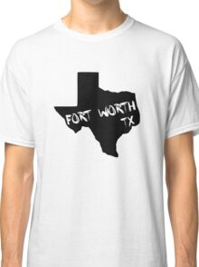 Fort Worth Texas paint state shape Classic T-Shirt