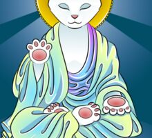 Serenity Meow Buddha Cat Sticker