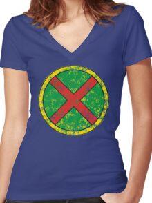 Martian Manhunter - DC Spray Paint Women's Fitted V-Neck T-Shirt