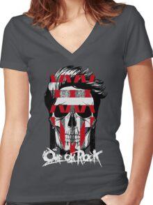 35XXXV - ONE OK ROCK! TAKA!!! Women's Fitted V-Neck T-Shirt