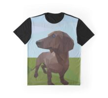 Low poly dachshund  Graphic T-Shirt