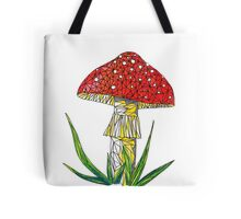 magic poisonous mushroom - red with white dots Tote Bag