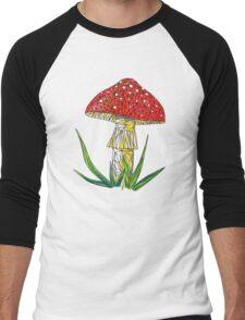 magic poisonous mushroom - red with white dots Men's Baseball ¾ T-Shirt