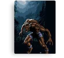 Midnight Werewolf Canvas Print
