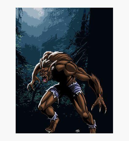 Midnight Werewolf Photographic Print