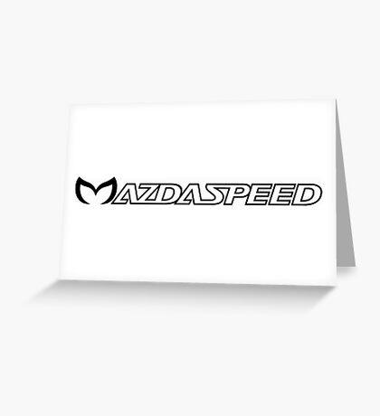 Mazdapeed Greeting Card